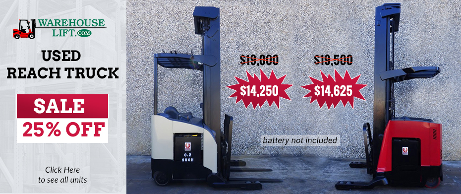 Reach Truck sale 25% off